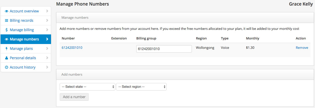 VoiP for Business Adding numbers